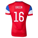 USA 2014 GREEN 16 Away Soccer Jersey