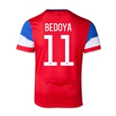 USA 2014 BEDOYA Youth Away Soccer Jersey