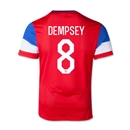 USA 2014 DEMPSEY Youth Away Soccer Jersey