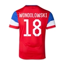 USA 14/15 WONDOLOWSKI Youth Away Soccer Jersey