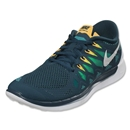 Nike Free 5.0 Men's Running Shoe (nightshade/turbo green/volt/white)