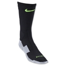 Nike Stadium Soccer Crew Sock (Black/Lime)