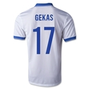 Greece 2014 GEKAS Home Soccer Jersey