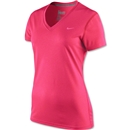 Nike Women's V-Neck Legend T-Shirt (Pink)