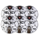 Select Numero 10 Game Ball 6 Pack (White/Gold)