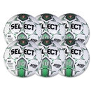 Select Numero 10 Game Ball 6 Pack (White/Green)