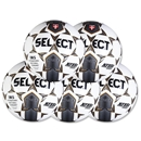 Select Royale Game Ball 5 Pack (White/Black)