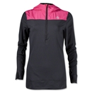 adidas Women's TechFit Cold Weather Half-Zip Hoody (Black/Pink)
