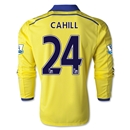 Chelsea 14/15 LS 24 CAHILL Away Soccer Jersey