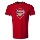 Arsenal Crest T-Shirt (Red)