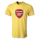 Arsenal Crest T-Shirt (Yellow)