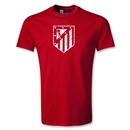 Atletico Madrid Distressed Crest T-Shirt (Red)