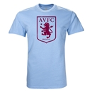 Aston Villa Large Crest T-Shirt (Sky Blue)