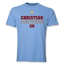 Aston Villa Benteke Player T-Shirt (Sky Blue)