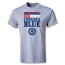 Chelsea Red White and Blue T-Shirt (Gray)