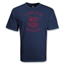 Barcelona College Style Crest T-Shirt (Navy)