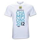 Manchester City 2012 Official League Champions T-Shirt (White)