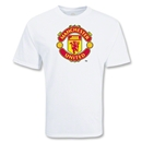 Manchester United Big Crest Soccer T-Shirt (White)