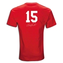 Manchester United Vidic 15 T-Shirt (Red)