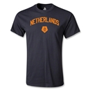 Netherlands Distressed T-Shirt (Black)