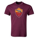 AS Roma Crest T-Shirt (Maroon)