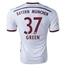 Bayern Munich 14/15 GREEN Away Soccer Jersey