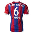 Bayern Munich 14/15 THIAGO Authentic Home Soccer Jersey