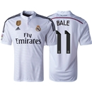 Real Madrid 14/15 BALE Home Soccer Jersey w/ Club World Cup Badge