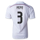 Real Madrid 14/15 PEPE Authentic Home Soccer Jersey
