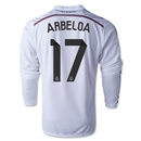 Real Madrid 14/15 ARBELOA LS Home Soccer Jersey