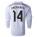 Real Madrid 14/15 CHICHARITO LS Home Soccer Jersey