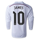 Real Madrid 14/15 JAMES LS Home Soccer Jersey