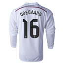Real Madrid 14/15 ODEGAARD LS Home Soccer Jersey