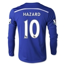 Chelsea 14/15 10 HAZARD LS Youth Home Soccer Jersey