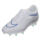 Nike Women's Hypervenom Phelon FG (White/Hyper Cobalt/Medium Mint)