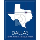 FC Dallas Map Wall Art