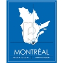 Montreal Impact Map Wall Art