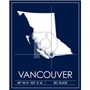 Vancouver Whitecaps Map Wall Art