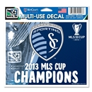 Sporting KC 2013 MLS Cup Winner Decal (4x6)
