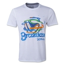 adidas Brazuca Ball Ultimate T-Shirt (White)