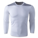 adidas TechFit Fitted Long Sleeve T-Shirt (White)