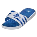 adidas adissage Graphic Sandal (Core White/Blue Beauty)