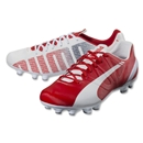 Puma evoSpeed 4.3 FG (White/High Risk Red/Empire Yellow)