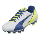 Puma evoSpeed 3.3 FG Women's (White/Snorkel Blue/Fluro Yellow)