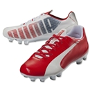 Puma evoSpeed 5.3 FG Junior (White/High Risk Red/Empire Yellow)