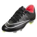 Nike Junior Mercurial Vapor X FG (Black/Hyper Punch)