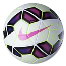 Nike Ordem 2 Serie A Soccer Ball (White/Black/Flash Pink)
