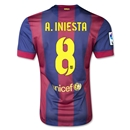 Barcelona 14/15 A. INIESTA Authentic Home Soccer Jersey