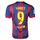 Barcelona 14/15 SUAREZ Authentic Home Soccer Jersey