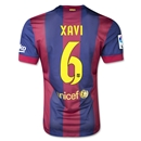 Barcelona 14/15 XAVI Authentic Home Soccer Jersey